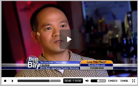 "iSushi on TV ""Best of the Bay"""